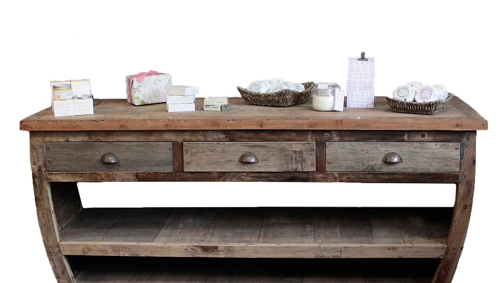 Centerpiece Recycled Wood Table - 180x60x80cm