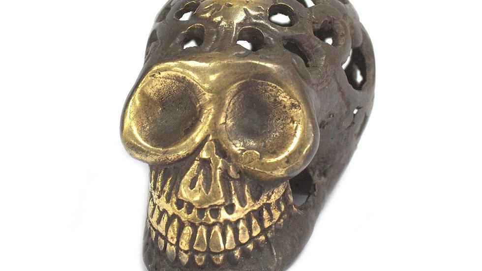 Small Vintage Brass Skull