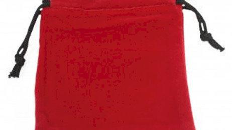 Quality Velvet Pouch - Red 10x12cm