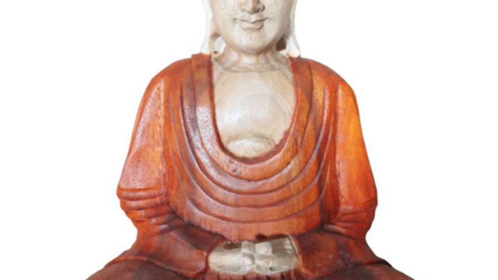 Hands Down Hand Carved Buddha Statue 30cm