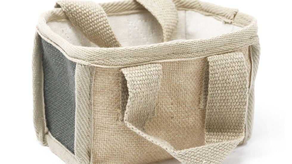 Charcoal Mini Shopping Basket - 16x10x12cm