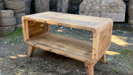 Small Round Coffee Table - Recycled Wood