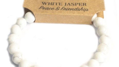 Power Bracelet - White Jasper