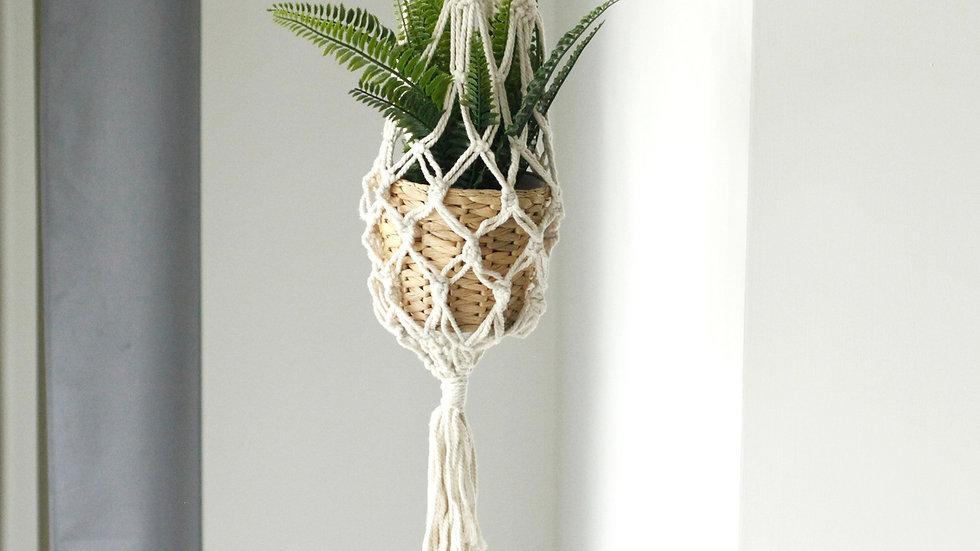 Macrame Pot Holder - Large Pot Holder - Extra Long