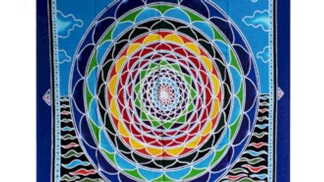 Mandala in the Clouds 106cm x 93cm