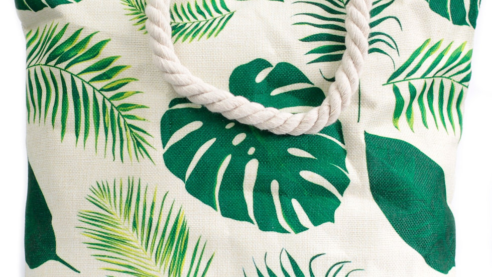 Tropical Greens Rope Handle Bag