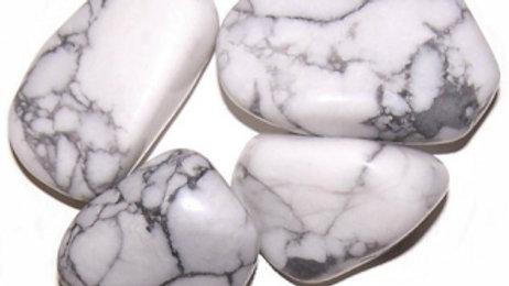 24 x Howlite White Large Tumble Stones