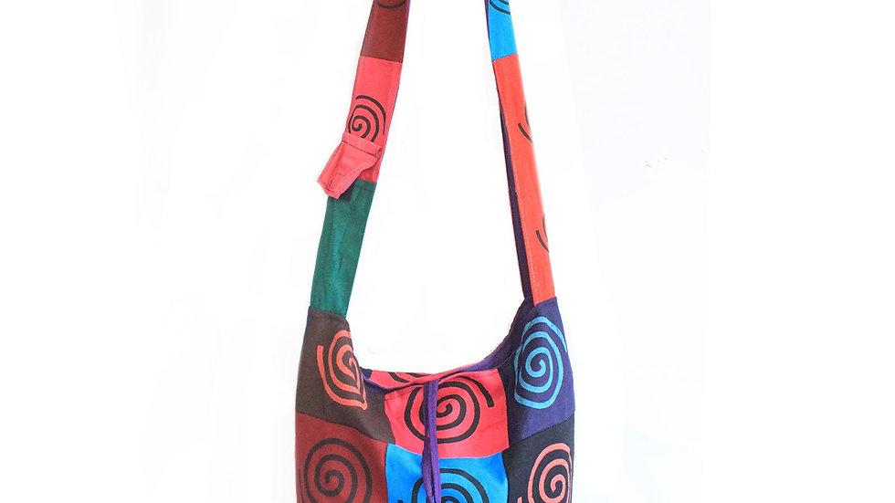 Spiral Cotton Patch Sling Bag