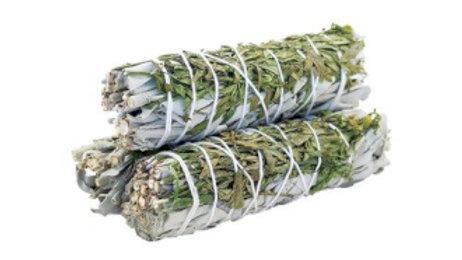 White Sage and Ruda 10cm Smudge Stick