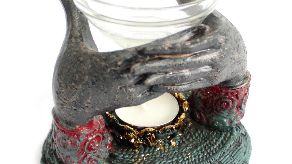 Antique Buddha - Offering Hands Oil Burner