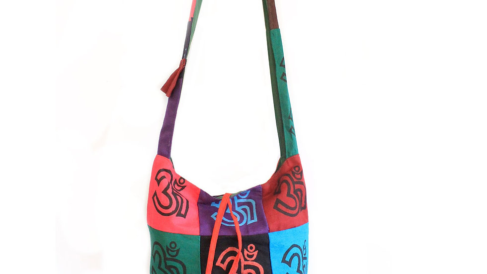 OM Cotton Patch Sling Bags