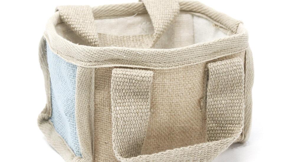 Teal Mini Shopping Basket - 16x10x12cm