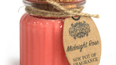 2x Midnight Rose Soy Pot of Fragrance Candles