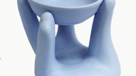 Blue Open Hands Oil Burner