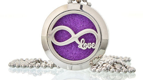 Infinity Love Aromatherapy Diffuser Necklace 25mm