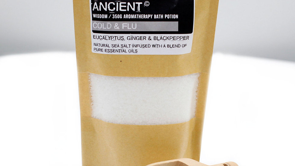 Colds & Flu Aromatherapy Bath Potion in Kraft Bag 350g