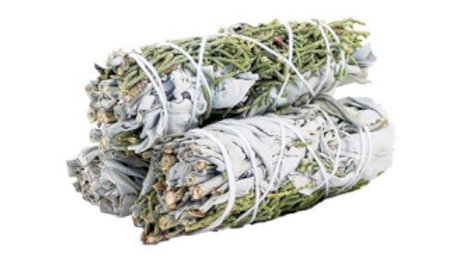 White Sage and Juniper 10cm Smudge Stick