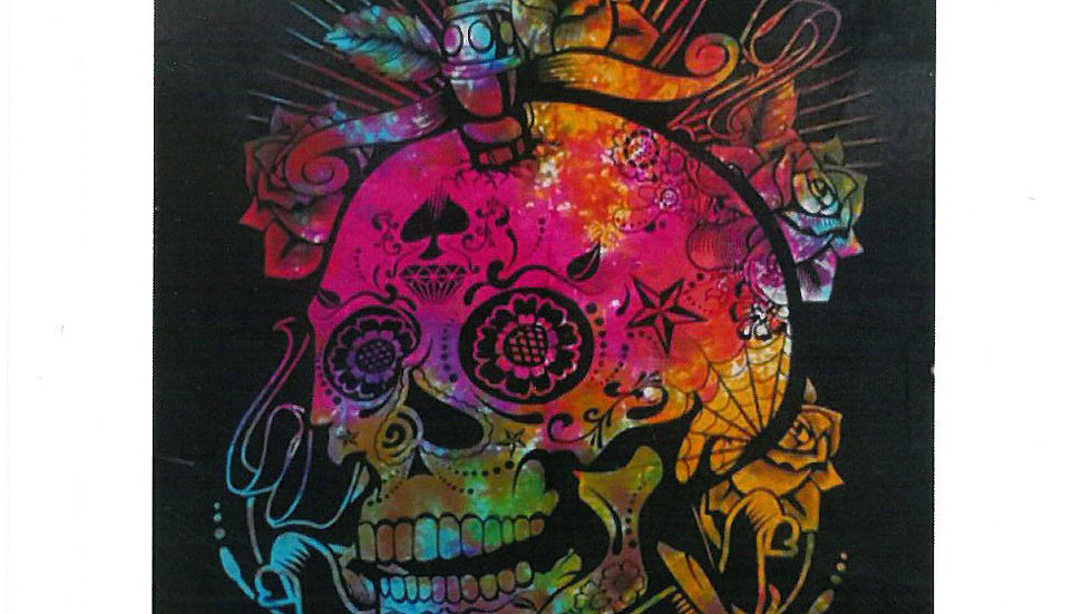 Day of the Dead Skull Cotton Wall Art