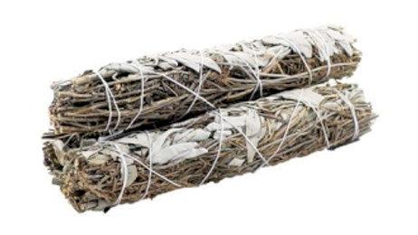 White Sage and Lavender 22.5cm Smudge Stick