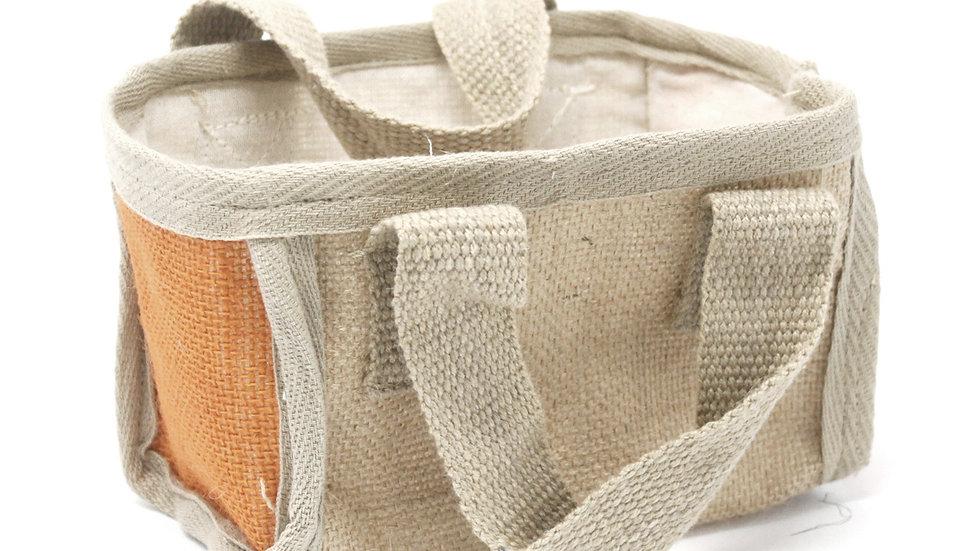 Turmeric Mini Shopping Basket - 16x10x12cm