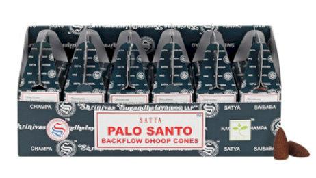 Satya Backflow Dhoop Cones - Palo Santo (24pcs)