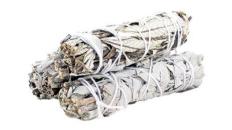 White Sage and Yerba Santa 10cm Smudge Stick