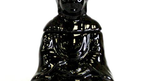 Sitting Buddha Oil Burner - Black