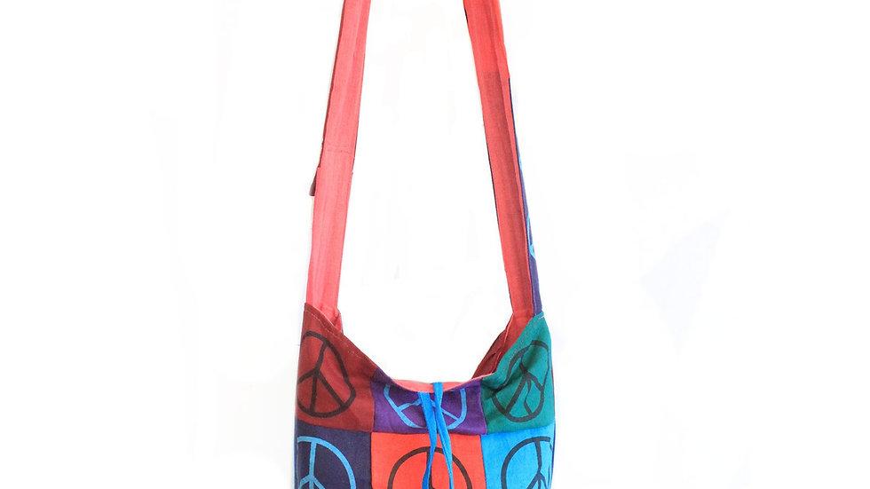 Peace Cotton Patch Sling Bags