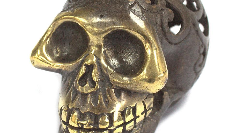 Medium Vintage Brass Skull