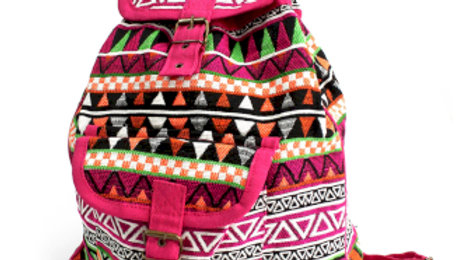 Pink Jacquard Backpack