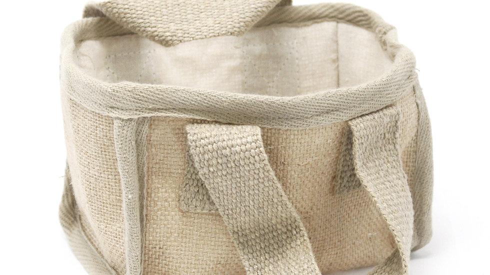 Natural Mini Shopping Basket - 16x10x12cm