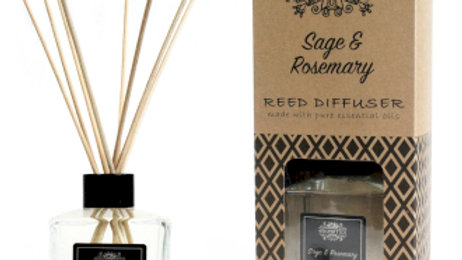 200ml Sage and Rosemary Essential Oil Reed Diffuser