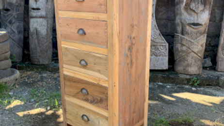 Tall set of 5 Draws - Recycled Wood