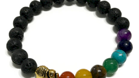 Elephant Chakra Lava Stone Bracelet