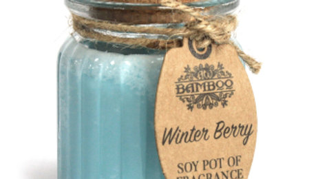 2x Winter Berry Soy Pot of Fragrance Candles