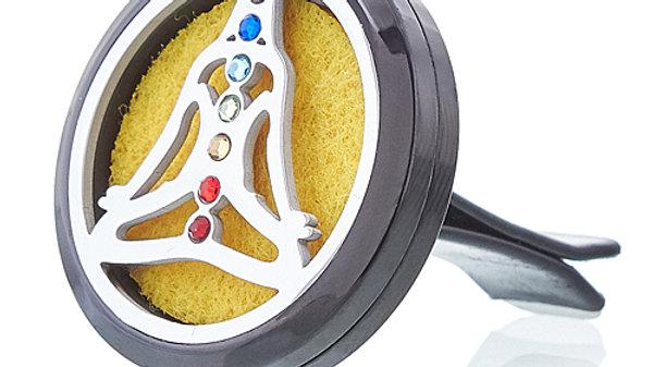 Yoga Chakra Car Diffuser Kit Pewter  30mm