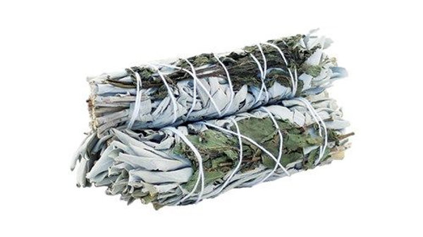 White Sage and Peppermint 10cm Smudge Stick