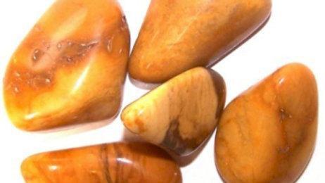 24 x Jasper Yellow Large Tumble Stones