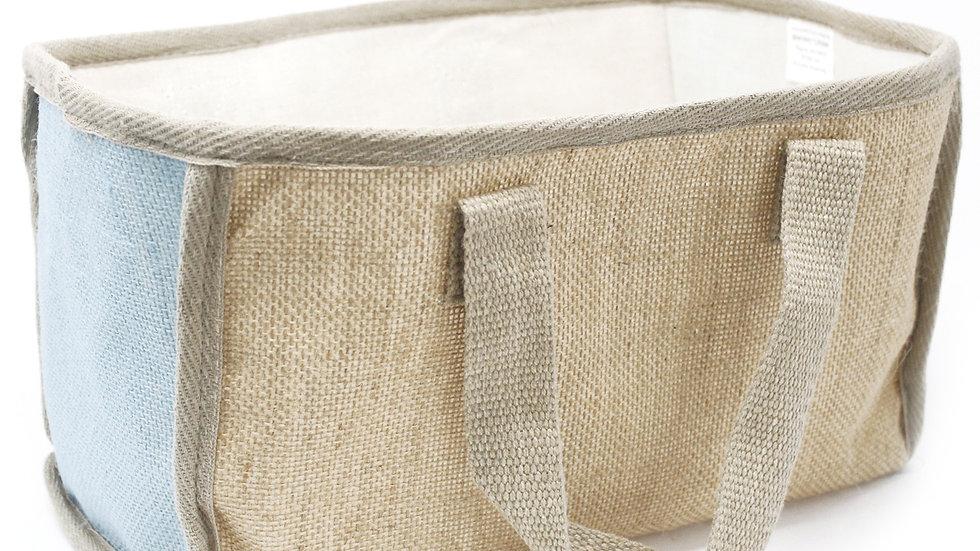 Teal Large Shopping Basket - 33x18x20cm