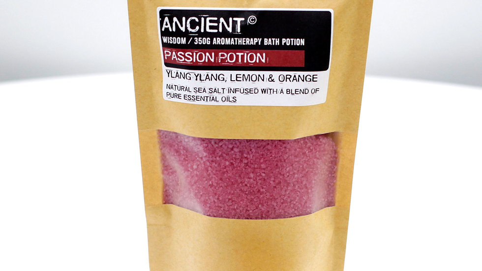 Passion Aromatherapy Bath Potion in Kraft Bag 350g