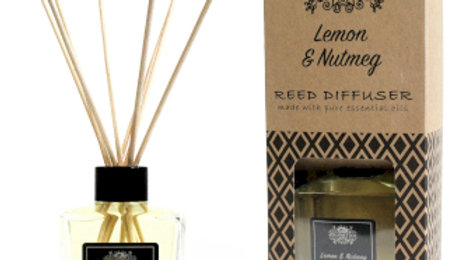 200ml Lemon and Nutmeg Essential Oil Reed Diffuser