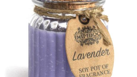2x Lavender Soy Pot of Fragrance Candles