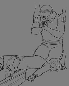 Sketch of healing scene