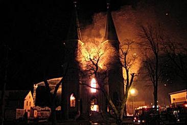 Church burning