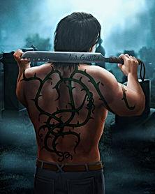 Tattoo work on Jorge's back