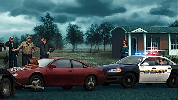 Arrest scene of Pastor Bo Ostermon