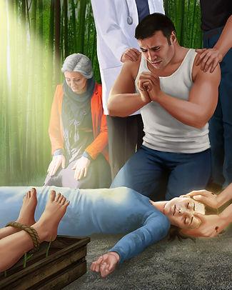 Levanto praying for sick daughter