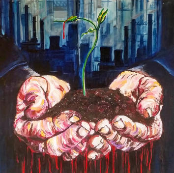 Bleeding Heart (Olio su tela 50x60) Ariela Salcini
