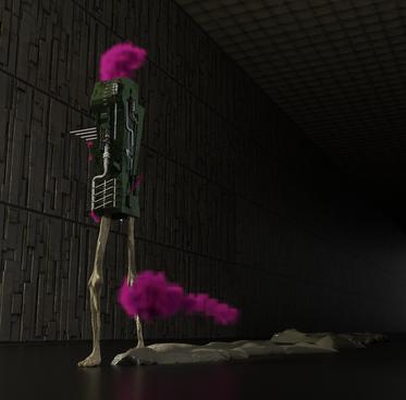 The walkin'progress (Render 3D realizzato con Blender) Matteo Volonterio