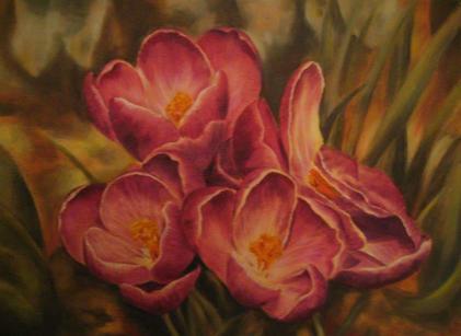Risvegli di primavera (olio su tela 30x40) Liliana Fumagalli